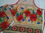 Фартуки кухонные, прихватки в украинском стиле, хлопок - фото 2