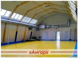 Angary pod sportzal, katok, futbol'noye pole, tennisnyy kor - фото 4