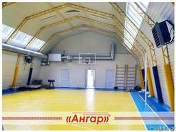 Angary pod sportzal, katok, futbol'noye pole, tennisnyy kor - photo 5