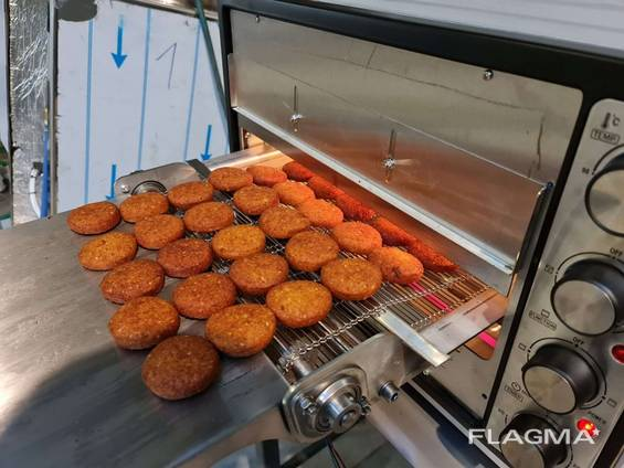 Compact Falafel Continuous Baking Oven